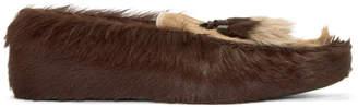 Prada SSENSE Exclusive Brown Fur Loafers