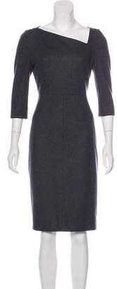 Burberry Virgin Wool Knee-Length Dress