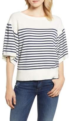Vineyard Vines Bell Sleeve Stripe Sweater