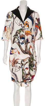 Balenciaga Printed Silk Dress