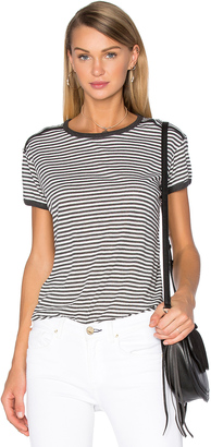C & C California Contrast Roll Sleeve Tee $69 thestylecure.com