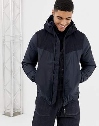 G Star G-Star setscale padded windbreaker jacket with hood in navy