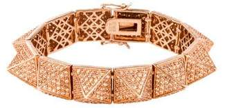 Eddie Borgo Crystal Pyramid Bracelet