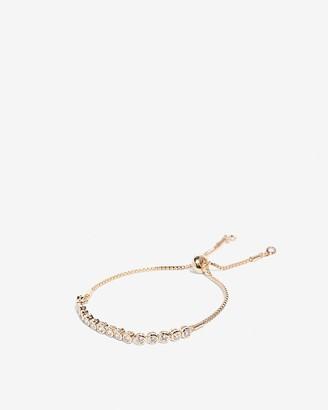 Express Cubic Zirconia Pull Chain Bracelet