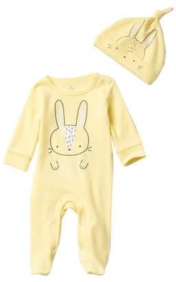 Baby Starters Bunny Footie & Knot Hat Set (Baby)