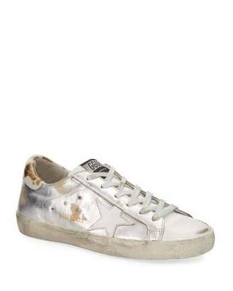 Golden Goose Superstar Metallic Lace-Up Sneakers