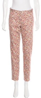 Thakoon Addition Floral Print Straight-Leg Pants