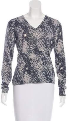 Neiman Marcus Printed Cashmere Sweater