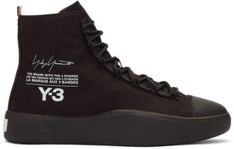 Y-3 Black Bashyo High-Top Sneakers