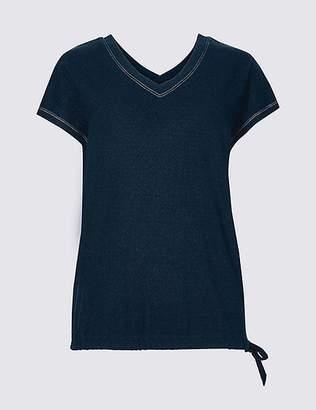 Marks and Spencer V-Neck Short Sleeve T-Shirt