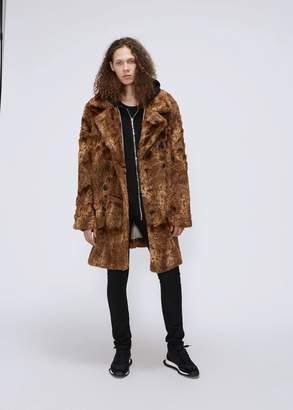 Needles Faux Fur Pea Coat