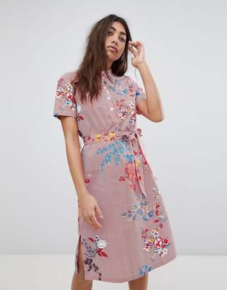 Noisy May Floral Printed Shirt Dress