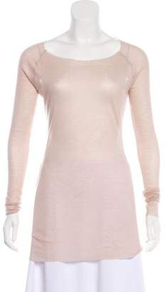L'Agence Knit Scoop Neck Top