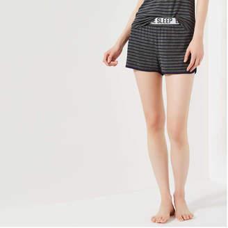 Joe Fresh Women's Elastic Waist Sleep Shorts, Dark Grey Mix (Size L)