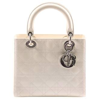 Christian Dior Lady White Patent leather Handbag
