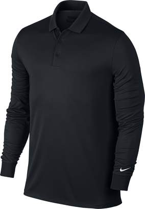 Nike Men's Victory Long Sleeve Polo Black/White Polo Shirt 2XL
