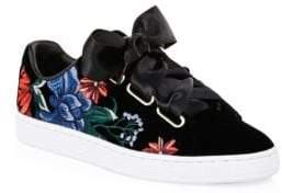 Puma Embroidered Velvet Sneakers