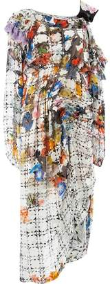 Preen by Thornton Bregazzi asymmetric printed dress