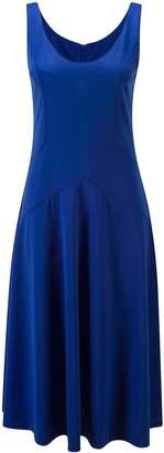 Bewish Womens Round Neck Sleeveless Simple Cutting Elastic Swing Dress