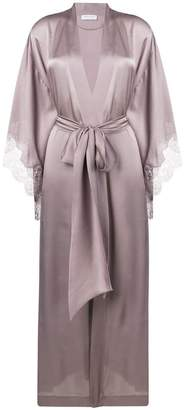 Carine Gilson lace trim kimono