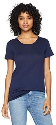 Enza Costa Women's Tissue Jersey Loose Short Sleeve Crew