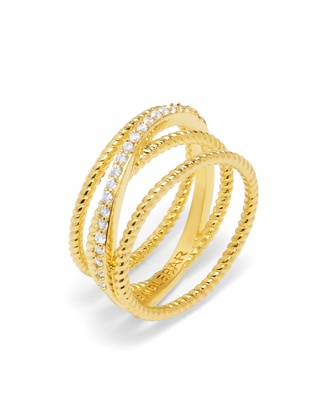 Carly Crossover Ring $32 thestylecure.com