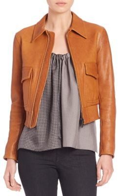Helmut LangCropped Leather Jacket