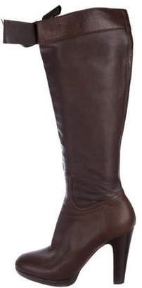 Miu Miu Leather Knee-High Boots
