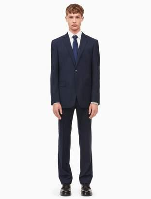 Calvin Klein x-fit ultra slim fit navy pindot suit