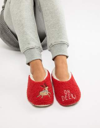 Sock Shop Reindeer Slipper