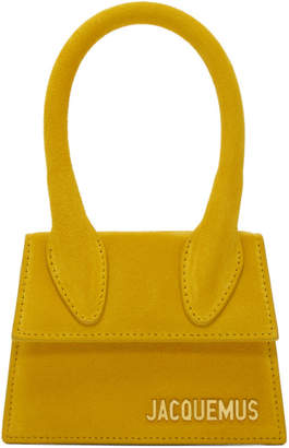 Jacquemus Yellow Suede Le Sac Chiquito Clutch