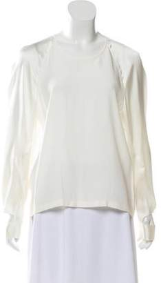 Zac Posen Silk Long Sleeve Top