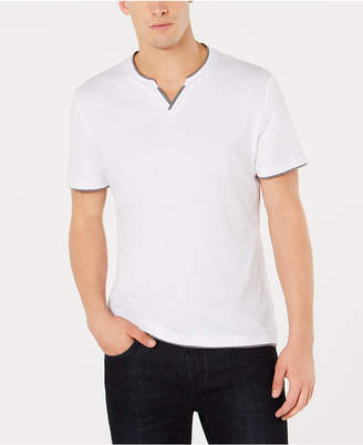 INC International Concepts I.n.c. Men's Split-Neck T-Shirt