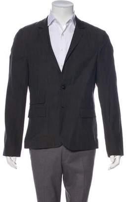 AllSaints Wool & Linen Two-Button Blazer