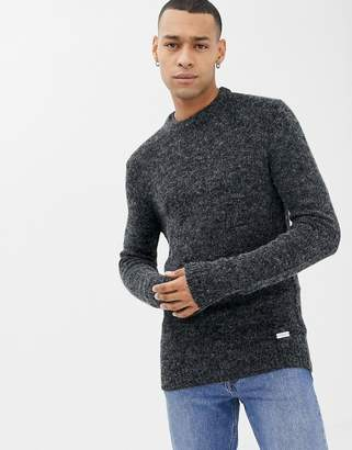 Brave Soul Textured Marl Crew Neck Sweater