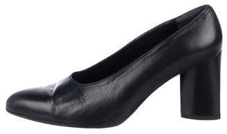 Robert Clergerie Leather Semi Pointed-Toe Pumps