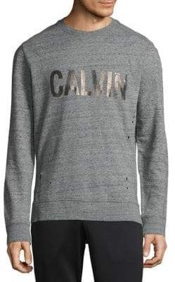 Calvin Klein Distressed Cotton Sweatshirt