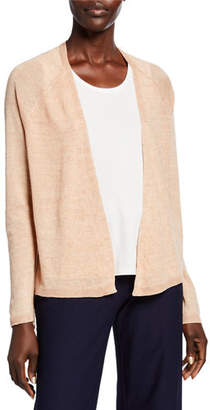 Eileen Fisher Plus Size Organic Linen Delave Cardigan