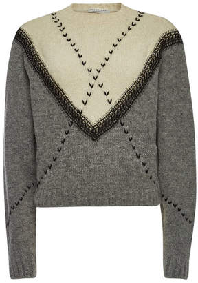 Philosophy di Lorenzo Serafini Embroidered Pullover with Alpaca and Wool