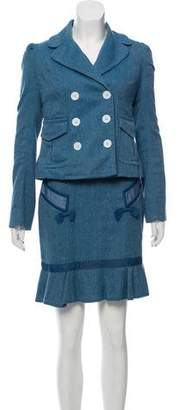 Marc by Marc Jacobs Wool-Blend Skirt Suit
