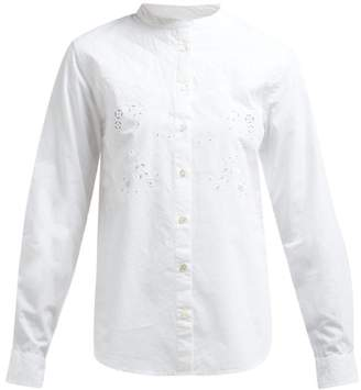ce937aa090ba Etoile Isabel Marant Willo Embroidered Cotton Shirt - Womens - White