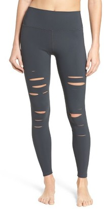 Women's Alo Ripped Airbrush Leggings $125 thestylecure.com