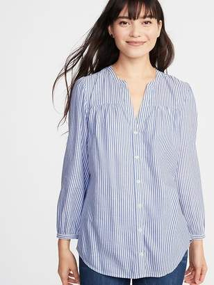 Old Navy Relaxed Shirred Tunic Shirt for Women