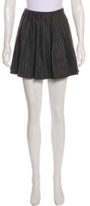 Alexander McQueen Wool Pleated Skirt