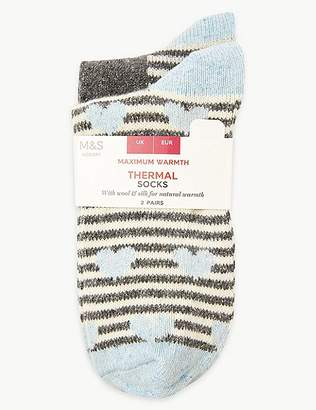 Marks and Spencer 2 Pair Pack Thermal Ankle High Socks