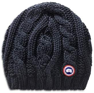 Canada Goose Cable-Knit Beanie Hat