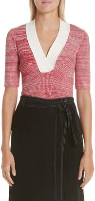Yigal Azrouel Melange Rib Knit Top