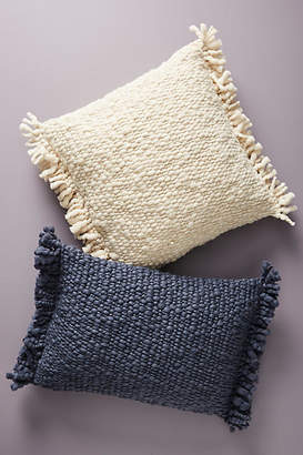 Anthropologie Fringed Knit Pillow
