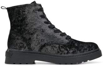 Calvin Klein Jeans twill ankle boots