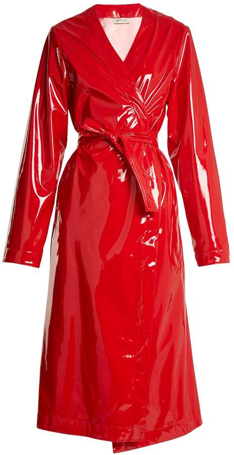 ATTICO Marla belted coated trench coat